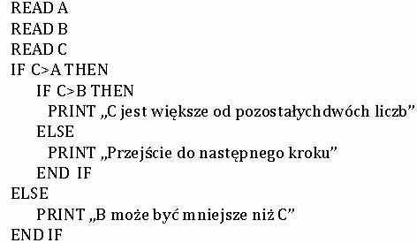 Fragment pseudokodu